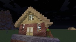 Simple Brick House Minecraft Map & Project