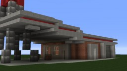 Red Rocket Truck Stop Minecraft Map & Project