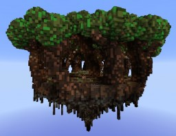 Floating island server hub + download Minecraft