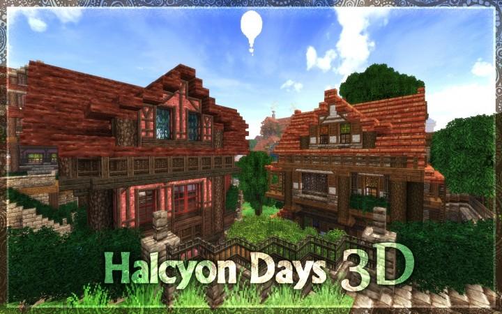 1 8 Halcyon Days 3d Resource Pack 32x Minecraft Texture Pack
