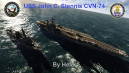 USS John C. Stennis CVN-74 [Nimitz class aircraft carrier, scale 1:1] Minecraft Map & Project