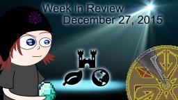 Week in Review - Week of December 27, 2015
