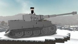 Tiger I (PzKpfw VI) heavy tank Minecraft Map & Project