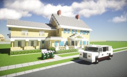 Suburban House + SUV Minecraft Project