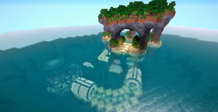 Underwater Redstone House Minecraft Project