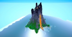 Volcano Redstone House Minecraft Project