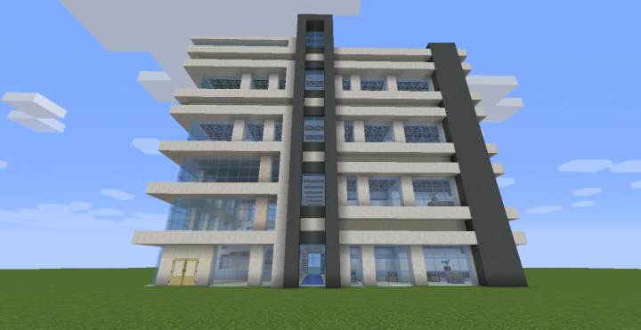 Modern hotel w download minecraft project for Minecraft moderno