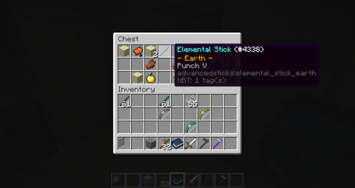 elemental sticks can be found in different chests