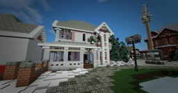 Christmas Queen Anne House Minecraft Project