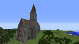 Gothic church with the crypt beneath it's floor Minecraft Project
