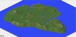 Isla Nublar (Jurassic Park) - 1:4 Scale Minecraft Map & Project
