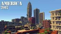 America 2017 - Huge apocalyptic town with interior Minecraft Project