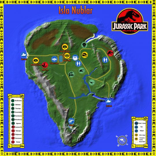 Map Of Jurassic Park Jurassic Park Isla Nublar Island [1.10.2] 2nd release Minecraft