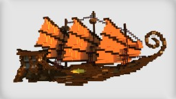 The Travel In Sunset | Asian Fantasy Ship Minecraft Project