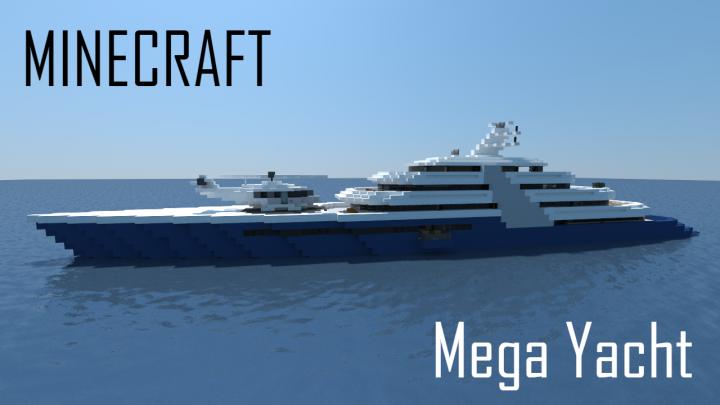 Segelyacht modern  Modern Mega Yacht (full interior) Minecraft Project