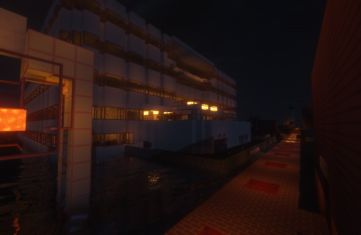 ForestFire hospital at night with connected glass, Sildurs Ultra