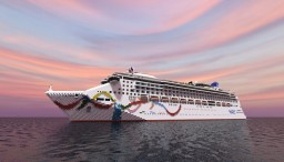 Norwegian Dawn - Cruise Ship { 1:1 SCALE - EXTERIOR ONLY } Minecraft Project