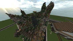 Overgrown swamp ruin with some houses and a small castle by SMeijers Minecraft