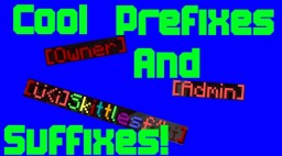 Cool Prefixes and Suffixes!!! Minecraft Blog Post
