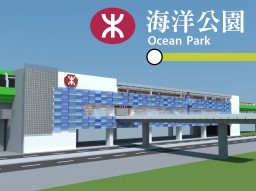 Ocean Park MTR Station (海洋公園) Minecraft Map & Project