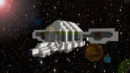 The x-fighter 3500 (Custom Space ship model) (Downloadable) Minecraft Map & Project