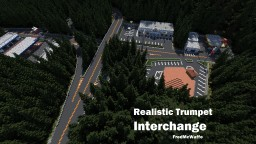 Realistic Trumpet Interchange + Petrol Stations and More Minecraft Project