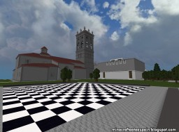 Replica Minecraft: Hospital del Rey (Faculty of Law of the UBU) of Burgos, Spain. Minecraft Map & Project