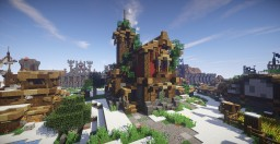 Medieval house with a turret Minecraft Map & Project