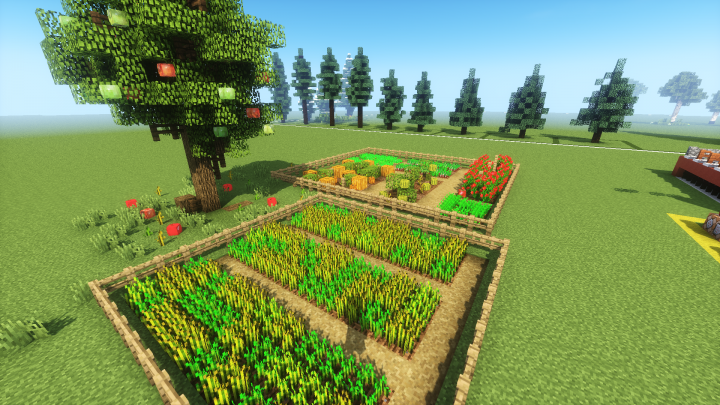 Mini environment -  Vegetable Garden and Apple Tree