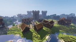 Glorious Medieval Kingdom Town Minecraft Map & Project