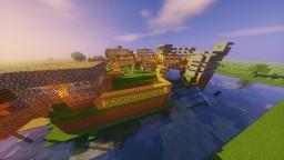 Island Village with bridge way and extras