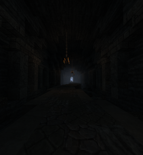 A dark tunnel