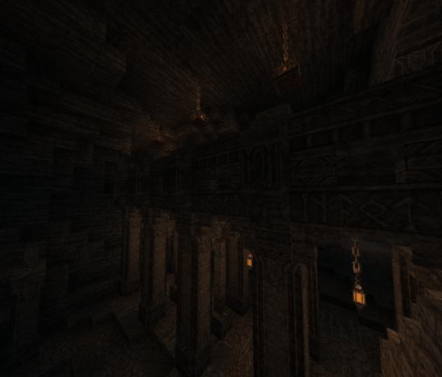 An underground bridge carved with Cirth runes