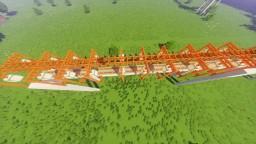 Redstone Powered Raised Rail System - Straight