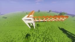 Redstone Powered Raised Rail System - 90 degree turn