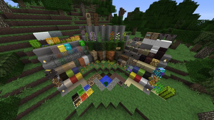Almost every block retextured. Sadly no shaders here.