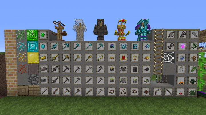 Closer look at tools, armour and some other items