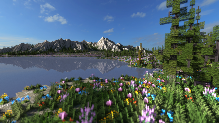 Mountain Valley Meadow   Ultra Realistic Terrain Minecraft Project