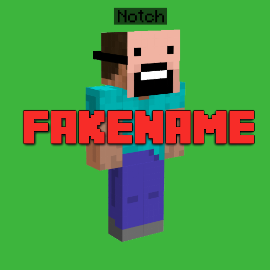 Fakename Change Your Display - Minecraft namen und skin andern