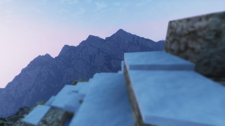 High up on a ridge