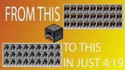 Minecraft | Smelt 27 Stacks in 4:19 Mega Furnace Array