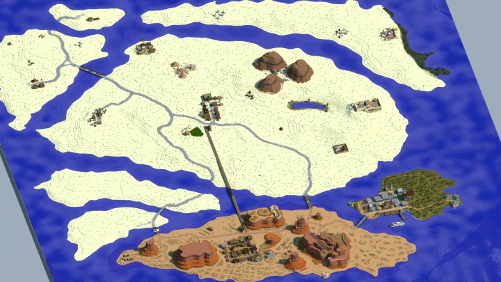Outlaws Massive Wild West World Minecraft Map