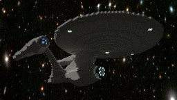 USS Enterprise-A (1:6) + Schematic Minecraft Map & Project