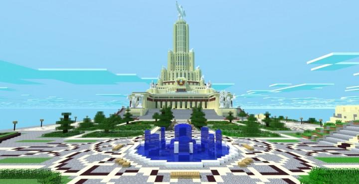Скачать Карту Дворец Советов для Minecraft