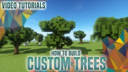 Guide on building good looking CUSTOM TREES 🌲🌳🌴 Minecraft Map & Project