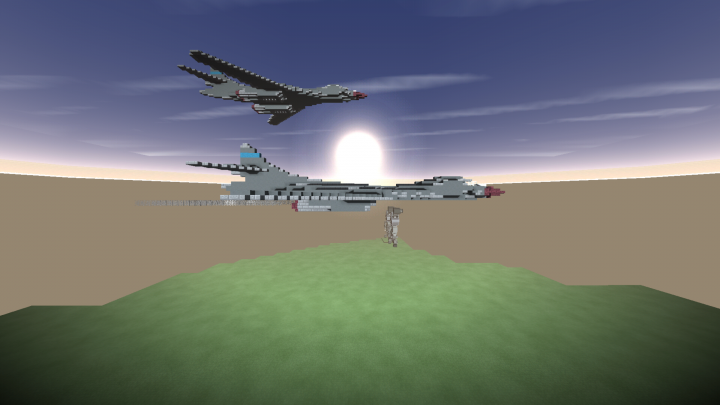 Rockwell B1 B Lancer Supersonic Heavy Bomber Minecraft Project B1 Lancer Supersonic