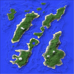 The Separated islands Minecraft Map & Project