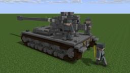 Waffenträger auf Panzer IV (4:1) Minecraft