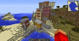 Riomaggiore City, Italy recreated in Minecraft Minecraft Project