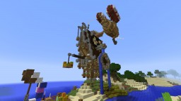 Steampunk house + Zeppelin Minecraft Map & Project